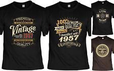 T-Shirt zum 61.Geburtstag - 61 Jahre Coole Sprüche Motive Geburtstag 1957