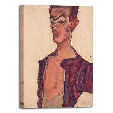 Schiele autoritratto smorfie quadro stampa tela dipinto telaio arredo casa