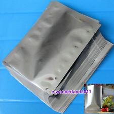100pcs Silver Aluminum Foil Mylar Bag Vacuum  Bag Sealer Food Storage Package