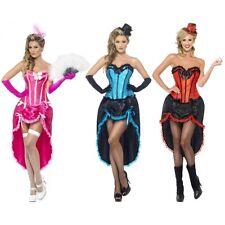 Can Can Costume Adult Saloon Girl Burlesque Cabaret Dancer Halloween Fancy Dress