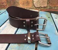 "Dark Brown Belt Real Leather Handmade Choice of Buckles & Widths 3/4"" - 1 1/2"""