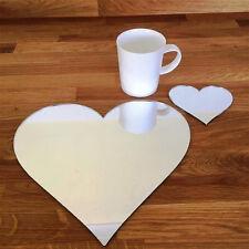 a forma di cuore tovaglietta e Set di sottobicchieri - Mirroring
