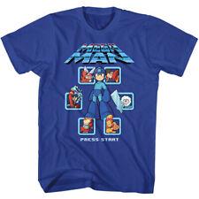Mega Man Select Screen Remix Capcom Gamer Adult T Shirt