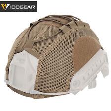 IDOGEAR Mesh Tactical Helmet Cover Cloth for FAST Helmet Camo Airsoft Headwear