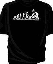 'Evolution of Man' Chequered flag t-shirt-  classic BSA Bantam