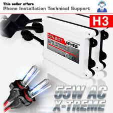 GENSSI H3 HID Kit Headlight Bulbs White Blue Xenon Conversion Light Ballasts