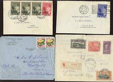 BELGIUM + CONGO 1915-57 COVER FRONTS..ODD LOT..10 ITEMS