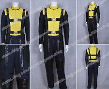 X Men Cosplay First Class Dark Blue Yellow Uniform Costume Comfortable To Wear