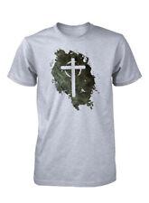 AproJes Jesus Vive Cruz Vacia Grunge Camiseta Cristiana