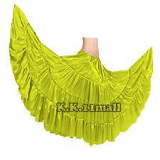 Yellow Green American Belly Dance Costume Tribal Dance Gyspy Skirts ATS S4