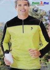 Uomo Maglia da running jogging walkingshirt Maglietta sportiva