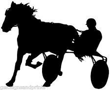 380x310MM TROTTER, HORSE & CART VINYL STICKER (MULTI COLOURS)