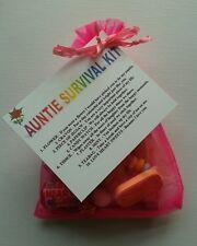 AUNTIE Survival Kit Birthday Keepsake Gift Present Christmas Fun Novelty