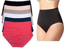 6 12 Womens High-Waisted Tummy Control Briefs Laser Cut Panties PLUS Lot #87308Q