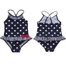 Mädchen Einteiler Polka Dots Bikini Badeanzug Badekleidung 92 98 104 110 116 122