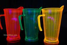 Neon Blacklight Reactive 60oz Plastic Pitcher