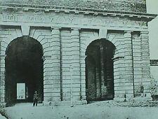 Porta del Palio (Stuppa), Verona, Italy, Vintage Magic Lantern Glass Slide