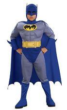 (R) bambino Batman Deluxe Muscle Chest RAGAZZI Bold Costume Bambini Età 3-10