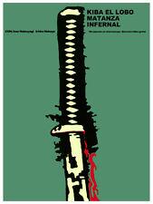 Kiba el lobo matanza infernal Decoration Poster.Graphic Art Interior design 3489