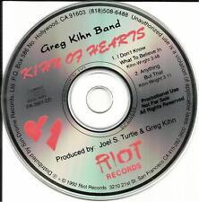 GREG KIHN BAND 2 Track SAMPLER 1992 PROMO Radio DJ CD Single MINT condition