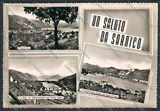 Bergamo Sarnico saluti da foto cartolina B3208 SZG