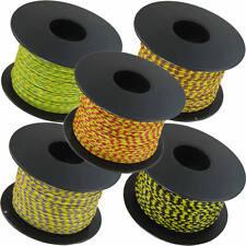 100m Litze 1x0,14mm²  5 Farben zur Wahl auf Spulen Grundfarbe gelb