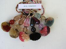 INTERLUDE PENDANT KEY TASSELS - beige, black, aqua, red, pink, aubergine etc