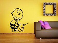 Banksy-CHARLIE BROWN Firestarter-Vinile Decalcomania Adesivi Da Parete TANTI COLORI. NUOVO