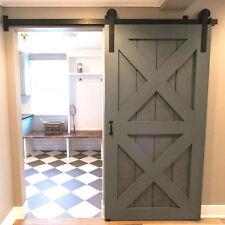 4-16ft  Antique Rustic Steel Sliding Barn Wood Door Hardware Closet Track Kit