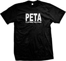 PETA People Eating Tasty Animals Funny Parody Paleo Humor Bacon Mens T-shirt