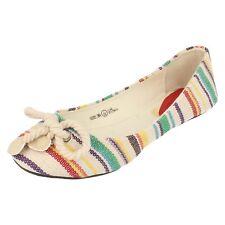 filles h2229 à enfiler beige multi-colore chaussures par Spot On