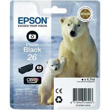 CARTOUCHE EPSON NOIRE PHOTO 26 / ours blanc polaire  t26 expression t2611 noir
