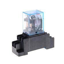 10A AC220V Bobine de relais de puissance à 8 broches 2Ouvrez 2Close avec socle3G