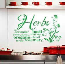 Cuisine Autocollant Mural plantes citations autocollant Art W56