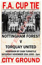 Nottingham Forest - Vintage Football Poster POSTCARDS - Choose from list