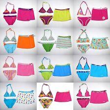 Girl 3 piece Bikini set Cover Up Swim Dress Skirt Swimsuit Bathing Suit Swimwear
