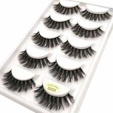 5Pcs Real 3D Mink Hair Natural Long Thick Makeup Eyelashes False Eye Lashes New