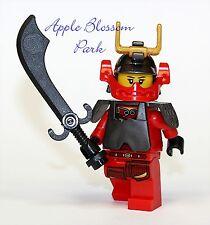 NEW Lego Ninjago Red SAMURAI X NINJA MINIFIG - Nya Female Minifigure 9448 9566
