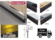 Stormguard Concealed Fix Brush Bottom Door Seal Excluder SILVER GOLD WHITE BLACK
