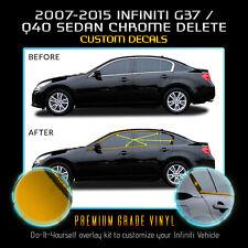 For 2007-2015 Infiniti G35 G37 Q40 Sedan Window Chrome Delete Kit Chrome Mirror