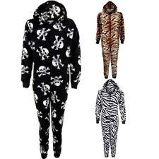 per bambini ZIP CAPPUCCIO zebrato tigre SKULL caldo tutto in uno pigiama tuta