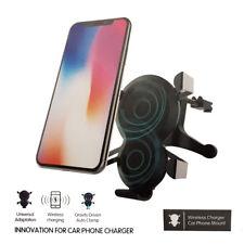 SUPPORTO AUTO PORTA CELLULARE CON RICARICA WIRELESS PER IPHONE 8 / 8 PLUS / X