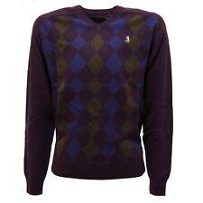 1967T maglione rombi bimbo JECKERSON lana/cashmere viola sweater wool kid