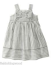 NWT Gymboree Bonjour Bright Striped Bow Dobby Dress 12 18 24mo 2T 3T 4T 5T TWIN