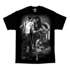 DGA David Gonzales Art Rockabilly Greaser Dance Tattoo Biker Mens Shirt M-5XL