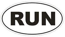 RUN Oval Bumper Sticker or Helmet Sticker D543 Laptop Cell Euro Oval