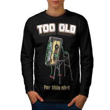 90 S Style THROWBACK Divertente Uomini Manica Lunga T-shirt Nuove | wellcoda