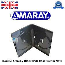 Doppio standard NERO DVD caso da 14 mm SPINE NUOVO VUOTO copertura faccia su superficie Amaray