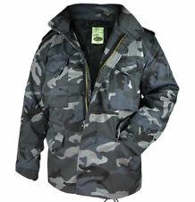 Mil-Tec Homme Veste d'hiver Blouson Militaire M65 Jacket Dark Camo S – 3XL