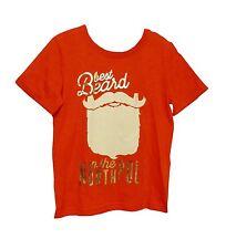 NEW! TU Boys Red Best Beard North Pole Santa Xmas T-Shirt Top Age 5 7 Years